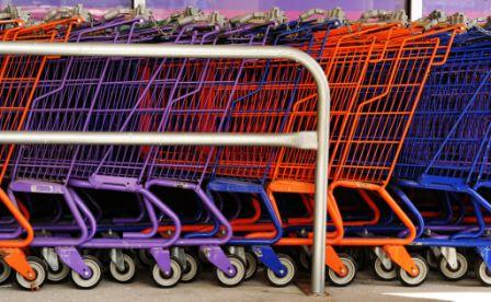 Colourful shopping carts
